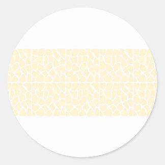 Giraffe Pattern. Cream Color Stickers