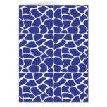Giraffe Pattern. Dark Blue. Card