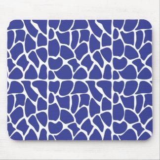Giraffe Pattern. Dark Blue. Mousepads