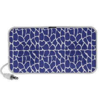 Giraffe Pattern Dark Blue Travel Speaker