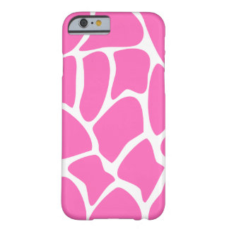 Giraffe Pattern in Bright Pink. Barely There iPhone 6 Case