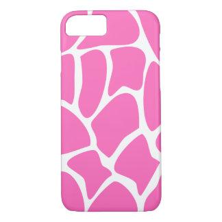 Giraffe Pattern in Bright Pink. iPhone 7 Case