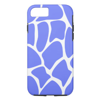 Giraffe Pattern in Cornflower Blue. iPhone 7 Case