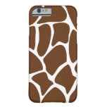 Giraffe Pattern in Dark Brown. Barely There iPhone 6 Case
