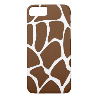 Giraffe Pattern in Dark Brown. iPhone 7 Case