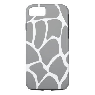 Giraffe Pattern in Gray. iPhone 7 Case