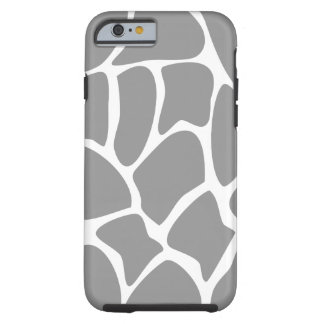 Giraffe Pattern in Gray. Tough iPhone 6 Case