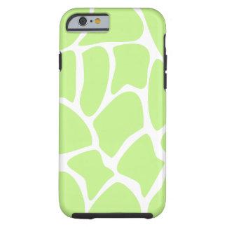 Giraffe Pattern in Light Lime Green. Tough iPhone 6 Case