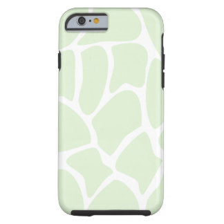 Giraffe Pattern in Mint Green. Tough iPhone 6 Case