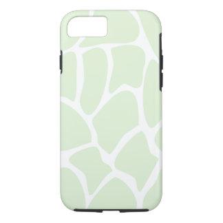 Giraffe Pattern in Mint Green. iPhone 7 Case