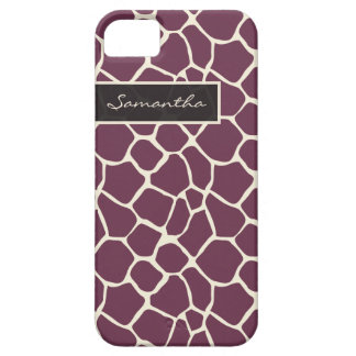 Giraffe Pattern iPhone 5 Case-Mate Case (purple)