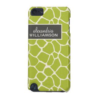 Giraffe Pattern iPod Touch Case (lime green)