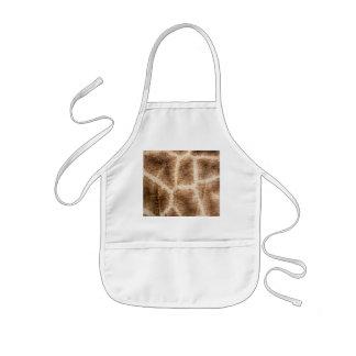 Giraffe pattern kids apron