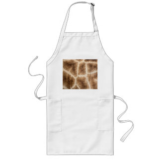 Giraffe pattern long apron