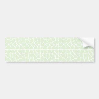 Giraffe Pattern. Mint Green. Bumper Sticker