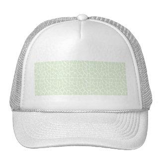 Giraffe Pattern. Mint Green. Cap