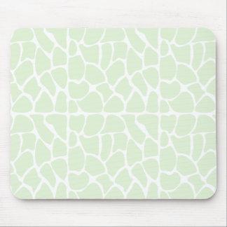 Giraffe Pattern. Mint Green. Mousepad