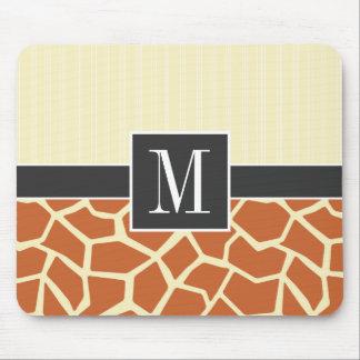 Giraffe Pattern Mouse Pad