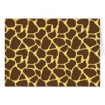Giraffe Pattern Note Card