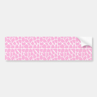 Giraffe Pattern Pale Pink Bumper Sticker