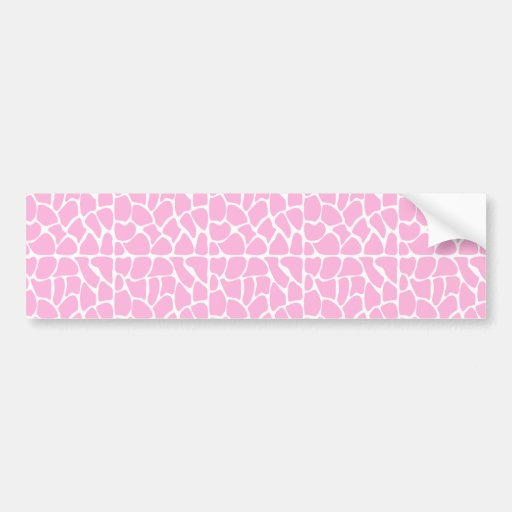 Giraffe Pattern. Pale Pink. Bumper Sticker