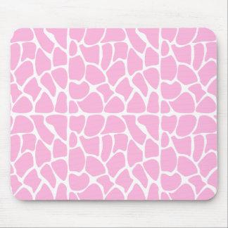Giraffe Pattern. Pale Pink. Mouse Pad