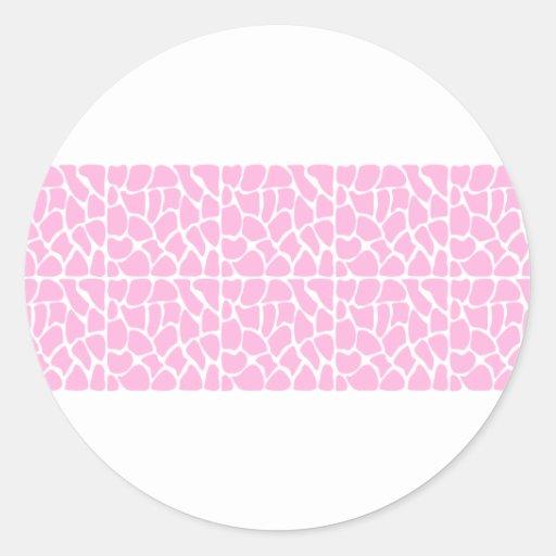 Giraffe Pattern. Pale Pink. Stickers