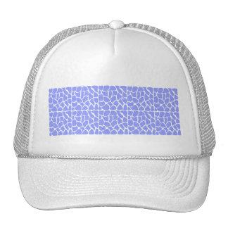 Giraffe Pattern. Sky Blue. Hat