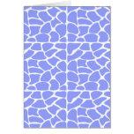 Giraffe Pattern. Sky Blue. Card