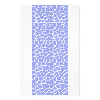 Giraffe Pattern. Sky Blue. Full Color Flyer