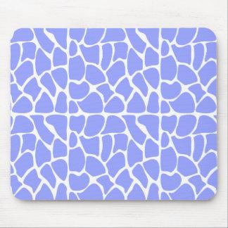 Giraffe Pattern. Sky Blue. Mousepad