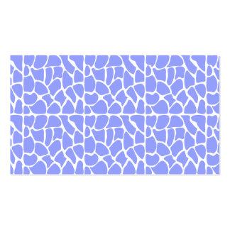 Giraffe Pattern. Sky Blue. Pack Of Standard Business Cards