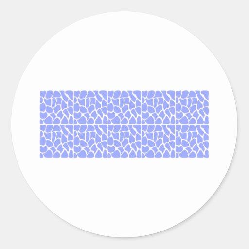 Giraffe Pattern. Sky Blue. Stickers