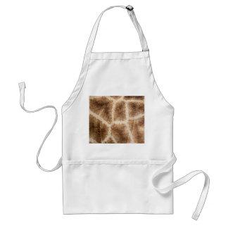 Giraffe pattern standard apron