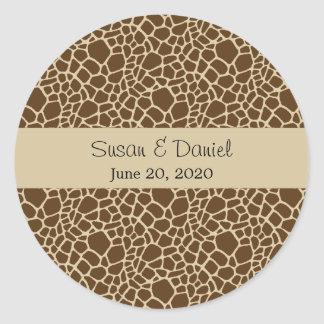 Giraffe Pattern Sticker