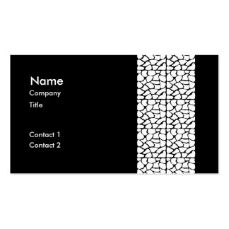 Giraffe Pattern. White and Black. Business Card Templates