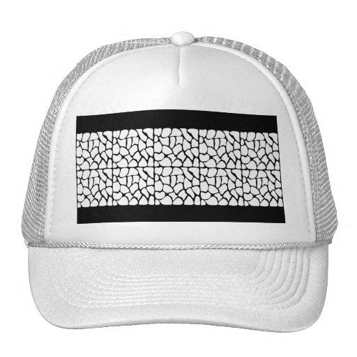 Giraffe Pattern. White and Black. Trucker Hats
