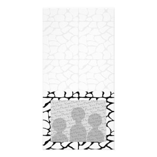 Giraffe Pattern. White and Black. Picture Card