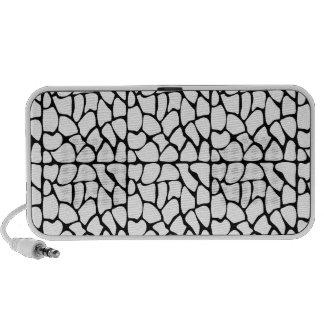 Giraffe Pattern. White and Black. Portable Speaker
