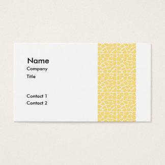 Giraffe Pattern. Yellow.