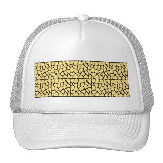 Giraffe Pattern Yellow Black Hat