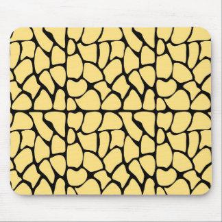 Giraffe Pattern. Yellow & Black. Mouse Pad