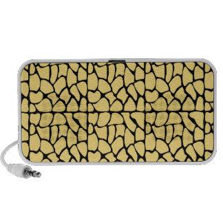 Giraffe Pattern Yellow Black iPhone Speaker