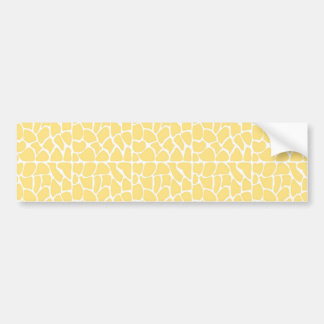 Giraffe Pattern Yellow Bumper Sticker