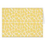 Giraffe Pattern. Yellow. Greeting Cards