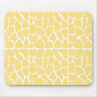 Giraffe Pattern Yellow Mouse Pads