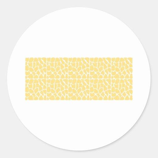 Giraffe Pattern. Yellow. Stickers