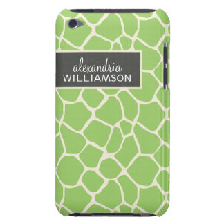 Giraffe Pern (green ) Barely There iPod Cases