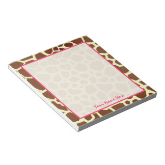 Giraffe Personalized Notepad