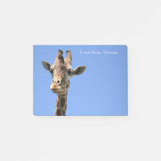 Giraffe Photo Wildlife Nature Name Post-It Notes